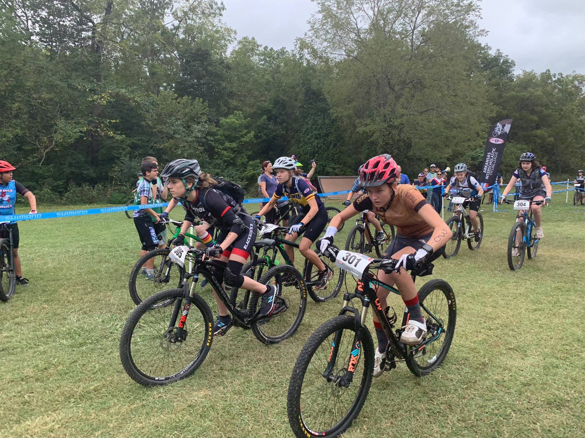 Blackhawk Cycling Team at Race
